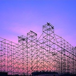 Scaffolding in the sunset